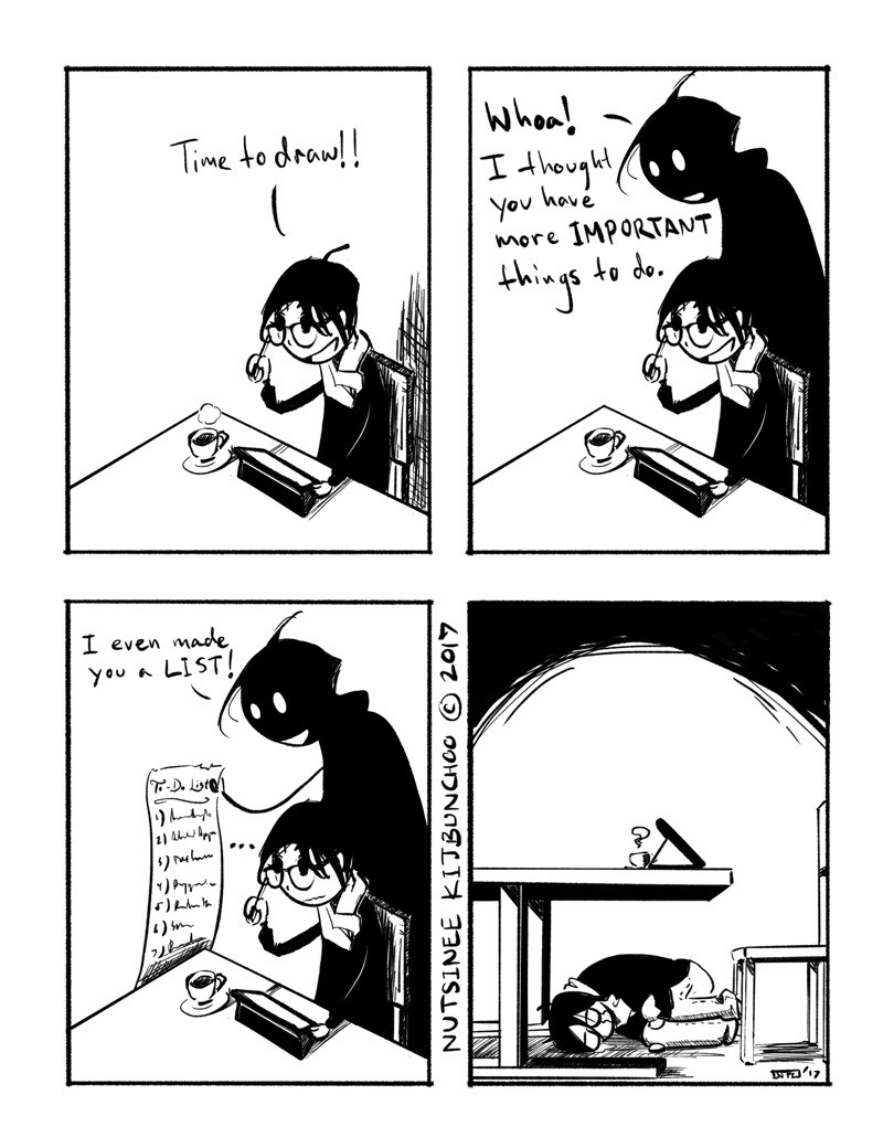 I definitely took a guilt trip into making this comic.