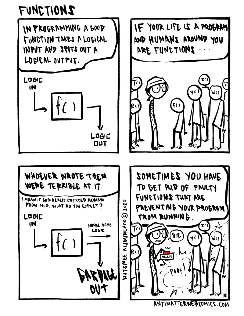 If HUMANS were FUNCTIONS